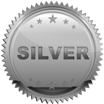silver birthday party package icon