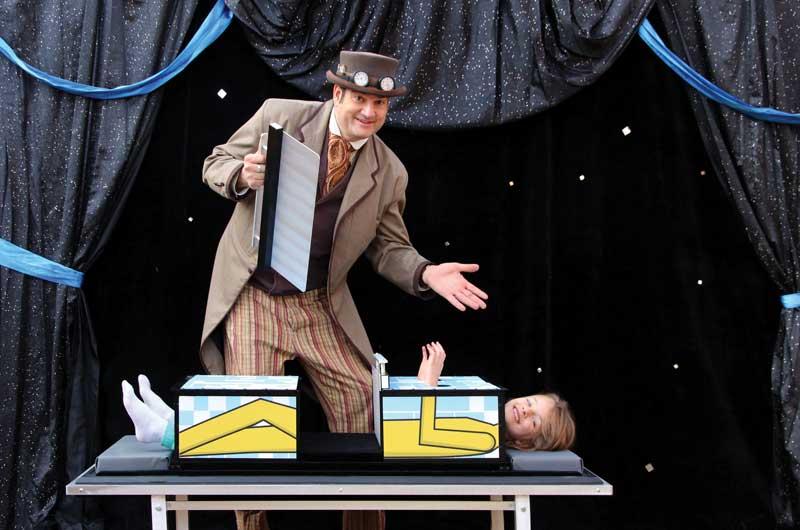 kids magic show denver saw trick