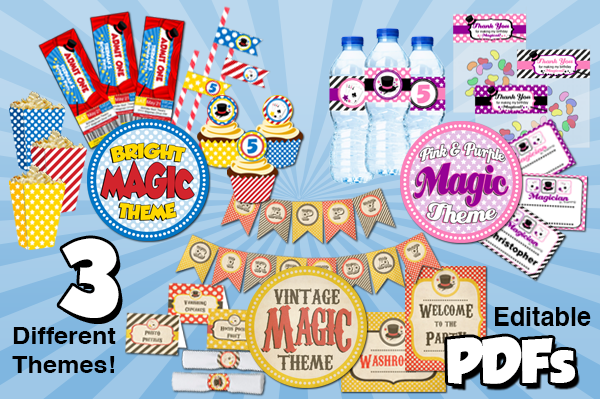 kids magic birthday party kit