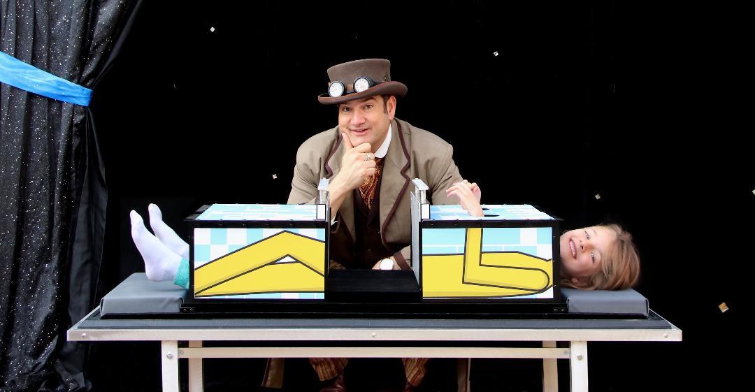 kids birthday parties denver magician saw in half