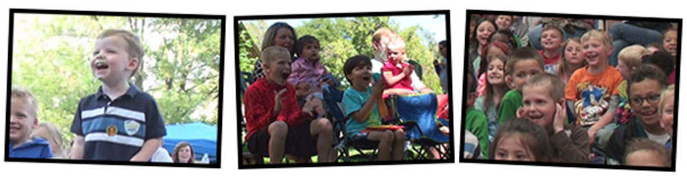 kids enjoying denver magician keir royale