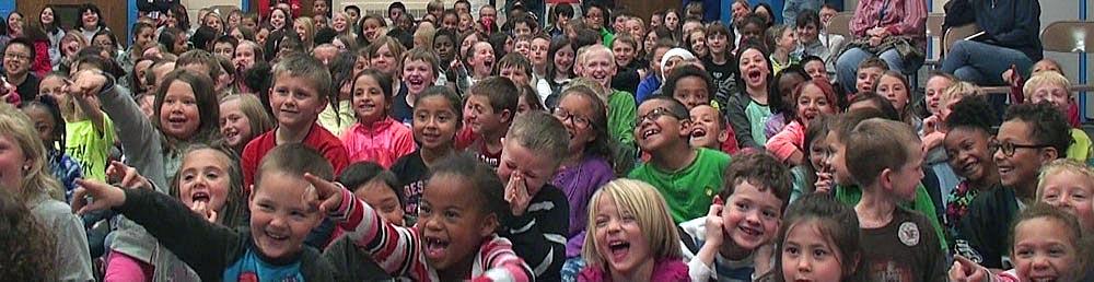 kids enjoying magic show